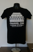 Channel One T-Shirt Speaker Stack - Gildan Cotton Black/White Speaker Stack (Various sizes)